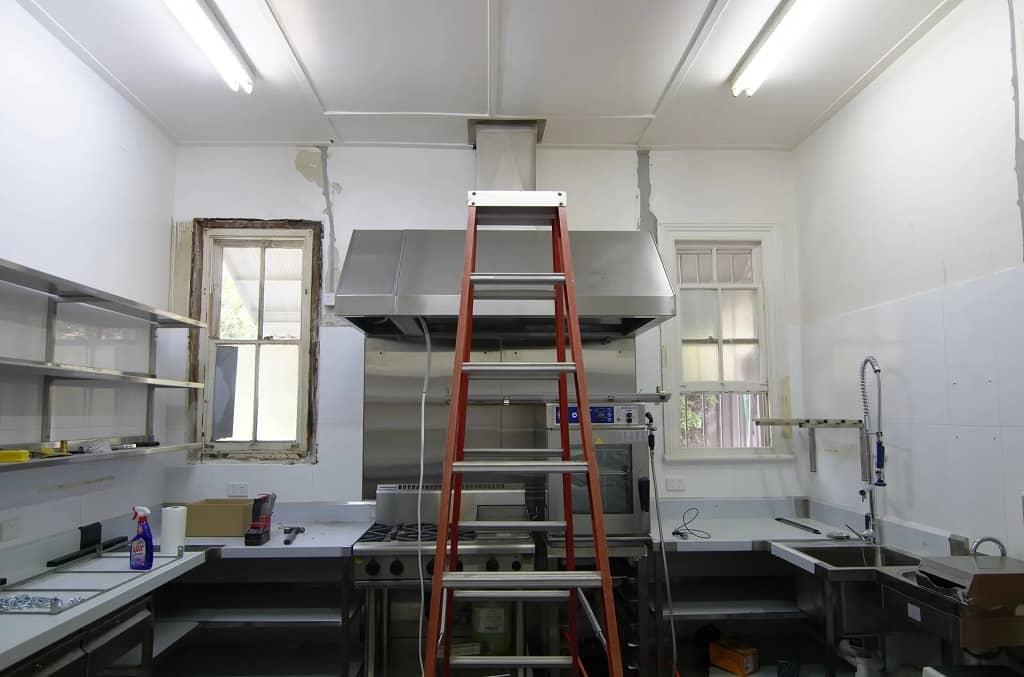 Kitchen renovation in progress