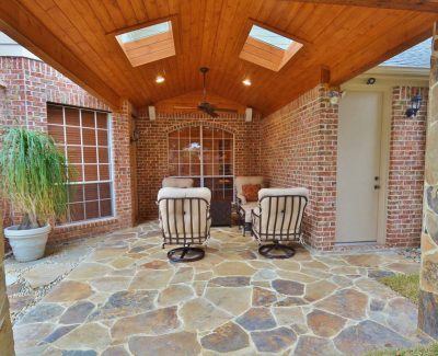 Barnhart patio renovation - straight on view after