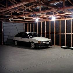 Garage to gym conversion under construction