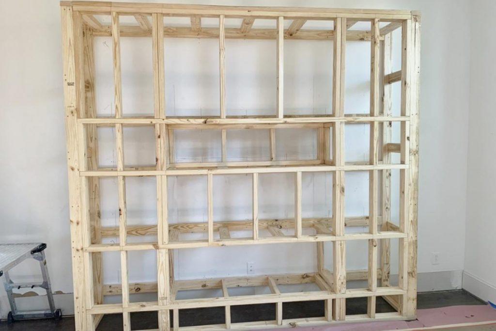 Banks - entertainment center wooden frame