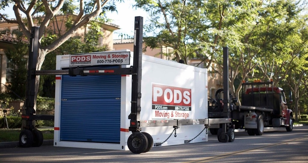 PODS storage container delivered to home